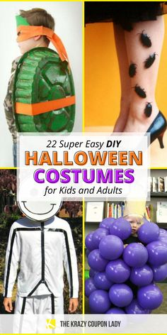 Cheap and easy Halloween costumes are the way to go for DIY Halloween costumes over costumes you can buy at your local party store. Why spend a ton of money on a Halloween costume when all you need is a few everyday materials to make your own? These DIY costumes are easy and inexpensive- perfect for a last-minute kids Halloween costume idea or the procrastinating adult who never got around to making a costume party choice! Diy Halloween Costumes For Kids, Easy Halloween Costumes, Halloween Masks, All You Need Is, Toy Soldier Costume, Party Stores, Party Drinks, The Balloon, Diy For Kids