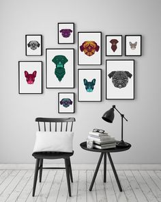 Modern Dog Art for the design conscious dog lover- from FIFI + PASCALE. 10% Discount code: poochcode101