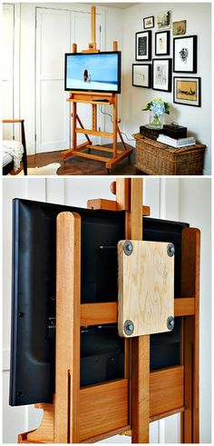 Tv Console Design, Tv Console Modern, Modern Tv, Old Tv Stands, Wooden Tv Stands, Tv Stand Makeover, Diy Tv Stand, Easel Tv Stand, Tv Stand Plans