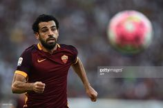 Roma's midfielder from Egypt Mohamed Salah eyes the ball during the Italian Serie A football match AS Roma vs Juventus on August 30, 2015 at the Olympic stadium in Rome. AFP PHOTO / FILIPPO MONTEFORTE