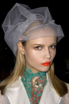 Natasha Poly, backstage at Louis Vuitton Spring 2008 Ready to Wear