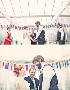 Or behind the ceremony site. | 35 Incredibly Creative Ways To Add Color To Your Wedding