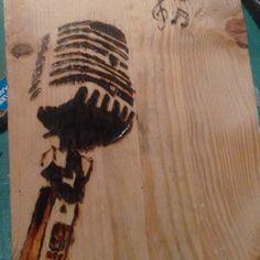 Probando #pirograbado  #microfono  #paletjauna