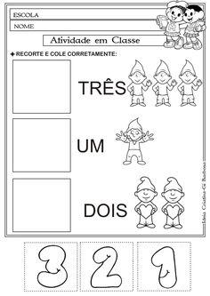 Atividade Matemática Educação Infantil- Corte e Recorte Educativo | Ideia Criativa - Gi Barbosa Educação Infantil