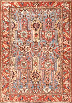 Antique Heriz Serapi Rug 47235 Main Image - By Nazmiyal  http://nazmiyalantiquerugs.com/antique-rugs/persian-rugs/antique-heriz-serapi-persian-rug-47235/
