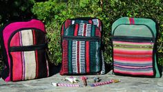 Backpacks ♥  Aguayo antiguo hecho a mano / Antique Aguayo handmade  #backpacks #bolivianart #aguayo #handmade #holacrystal #travelbag #backtoschool
