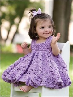 Crochet Patterns Little Girl Dresses : ... dresses on Pinterest Free crochet, Crochet dresses and Baby dresses