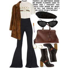 Untitled #649 by chandele on Polyvore featuring moda, Gucci, Wet Seal, Maticevski, CÉLINE and Maison Margiela