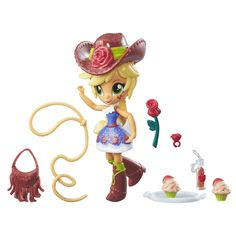 Amazon.com: My Little Pony Equestria Girls Minis Apple Jack School Dance Set: Toys & Games