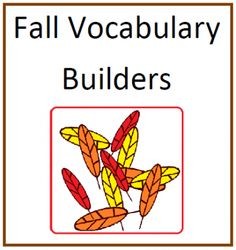 Fall Vocabulary Builders from Mary Bauer on TeachersNotebook.com -  (13 pages)  - This packet contains six word lists, three sorting sheets and four poetry forms based on fall themes.  $