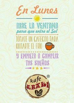 En lunes .... #AllYouNeedIsLove #Love #Monday #Sunshine #Oscars2015 #Desayunos #Breakfast #Yommy #ChaiLatte #Capuccino #Hotcakes #Molletes #Chilaquiles #Enchiladas #Omelette #Huevos #Mexicana #Malteadas #Ensaladas #Coffee #CDMX #Gourmet #Chapatas #Cuernitos #Crepas #Tizanas #SodaItaliana #SuspendedCoffees #CaféPendiente  Twiitter @KafeEbaki  Instagram kafe_ebaki www.facebook.com/KafeEbaki Pedidos 65482617