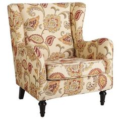 @Marcia Hewitt this is perfect for the living room     Claudio Wing Chair - Jacobean