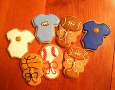 Baby shower rattle onesie cookie favors