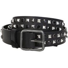 Black Studded Leather Belt (£210) ❤ liked on Polyvore featuring accessories, belts, black, dsquared2, studded belt, dsquared2 belt, studded leather belt and leather belts