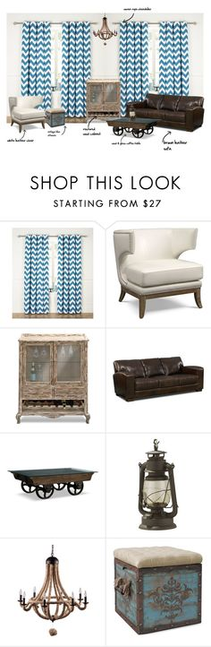 decorating around a brown leather sofa by valuecityfurn on Polyvore featuring interior, interiors, interior design, home, home decor and interior decorating