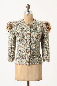 feather-shoulder cardi