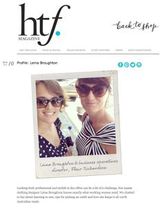 Thank you to the lovely team at hardtofind.com.au for the LB feature interview in the HTF magazine today!! Check it out...http://hardtofind.com.au/blog/2014/03/profile-leina-broughton/ #leinabroughton