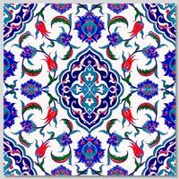 Continuous 4pc Floral Pattern  Wall Tiles  for kitchen or bathroom