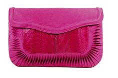 a cuckoo moment... Tita clutch bag made of ostrich leg leather and suede. Closable with press stud. Clutch bag comes with small pocket and key ring. Washable material inside to clean the bag after dirt. Color : Fuchsia.  http://shop.a-cuckoo-moment.de/index.php?lang=0&cl=search&searchparam=tita