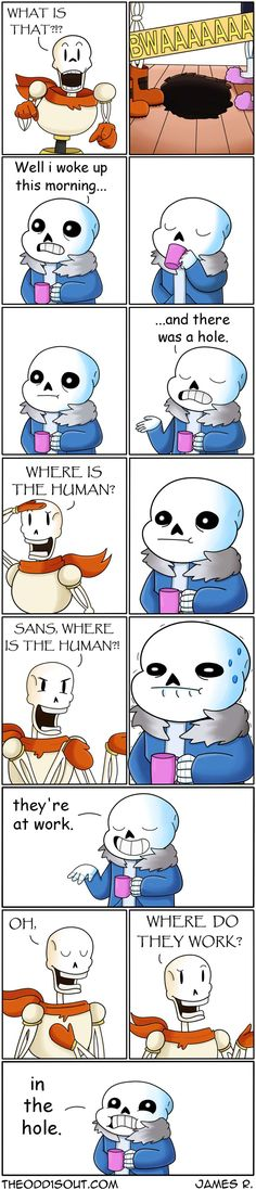 Theodd1sout :: The Hole (Undertale Version) | Tapastic Comics - image 1