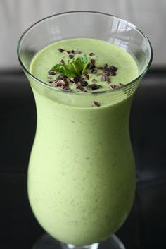 Sweetly Raw: Mint Chip Protein Shake