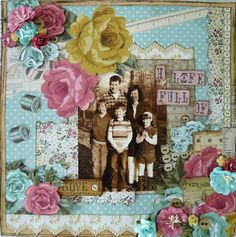 Kaisercraft Needle & Thread: a Life Full of Love - Lay Out Scrapbook Layouts, Scrapbooking, Lay Outs, Tim Holtz, Needle And Thread, Color Mixing, Embellishments, My Design, Mixed Media