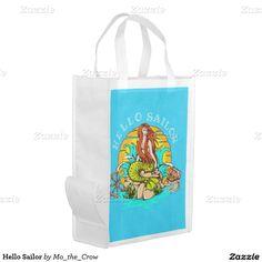 Hello Sailor Grocery Bag