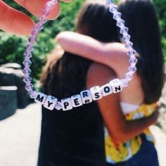 """Sometimes there's no better defining word for your bestie than """"My Person."""" Create your own My Person bracelet at Little Words Project!"""