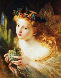 Characters from Midsummer Night's Dream, the Tempest, and other Fairy Paintings and Pictures of Fairies in Art