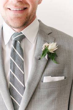 classy gray for the groom & his men | via joy proctor design