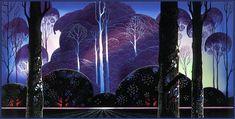Eyvind Earle Purple Sunrise,1996