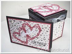 Hochzeitskarte mit passender Explosion-Box