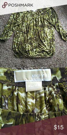 Michael Kors Top Good condition. Size XL. MICHAEL Michael Kors Tops Blouses