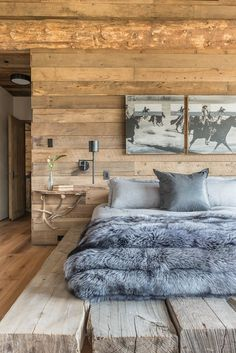 Bed room In Big Sky Montana. Rain Houser