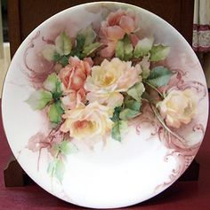 george leykauf china painter | George Leykauf Rose Plate