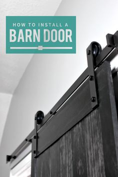 How to Install a Barn Door - This DIY Tutorial includes step by step instructions on how to hang a barn door using interior sliding door hardware.
