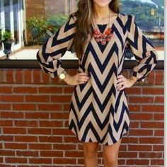 """Chevron dress Stretchable, Black mixed tan. super chic. Necklace and belts are not included. S Length:33 inches, bust 37"""". M: length: 33.5"""". Bust 38"""". L length: 34"""", bust 39"""" Other"""