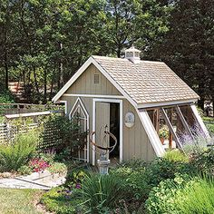 Greenhouse Plus Garden Shed
