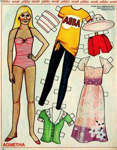 ABBA paper dolls.