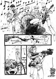 Tank Girl #1 page 20 Comic Art