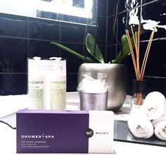 "Showertabs ""Relaxing Lavender"" by WALTZ 7 Lavender, Spa, Shower, Rain Shower Heads, Showers"