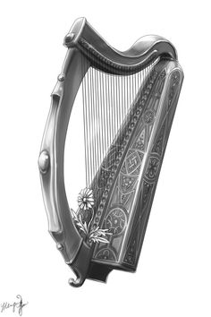 I think I just found my Celtic Harp Tattoo folks!