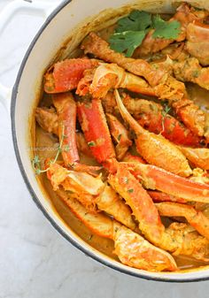 Caribbean Crab Curry that cooked in a curry coconut sauce.