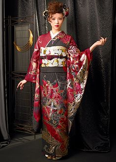The long-sleeved kimono collection - clothes Halle Cloudy - kimono kimono rental sales group Japan Kimono system