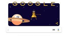 Nava spatiala Cassini este celebrată de Google printr-un Doodle