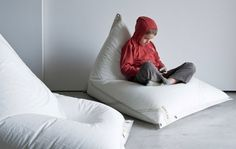 upcycled sails into bean bags