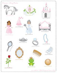 CreKid.com - FREE Story Rocks Printouts - Princess Story Rocks - Spark your…