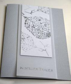 Zarte Trauerkarte von Blütenstempel auf DaWanda.com