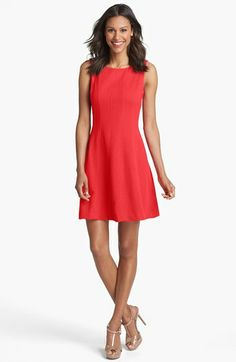 Taylor Dresses Textured Fit & Flare Dress available at #Nordstrom