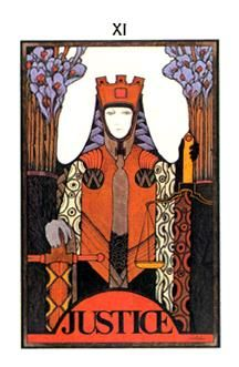 January 28 Tarot Card: Justice (Aquarian deck) Justice is karma. Through the thoughts and actions you put out to the world, you dictate the energy that comes back to you ~ make it good
